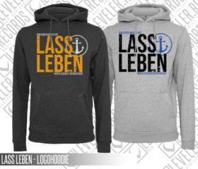 LASS LEBEN - LOGOHOODIE